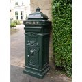 aluminium-post-box-green